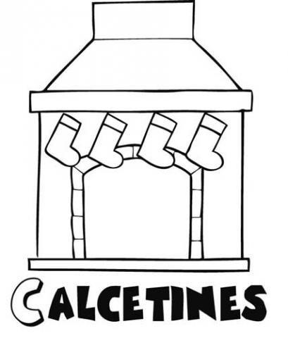 Calcetines en la chimenea Dibujos de Navidad