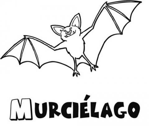Dibujo gratis de murciélago para imprimir y pintar con niños