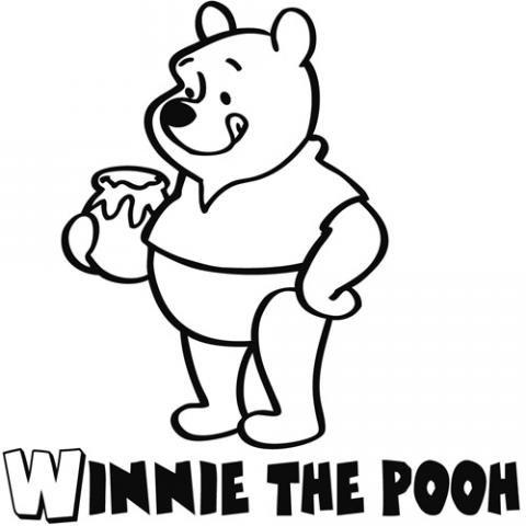 Winnie the Pooh: Dibujos para colorear