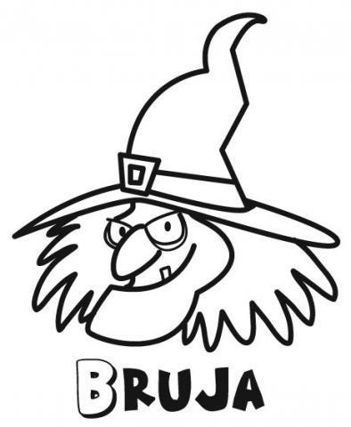 Imprimir Bruja para colorear por los nios Dibujos de Halloween