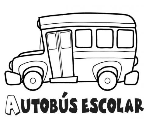Dibujos de autobús escolar para imprimir y colorear