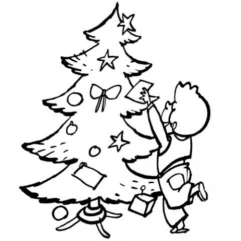 de Navidad con adornos Dibujos para nios