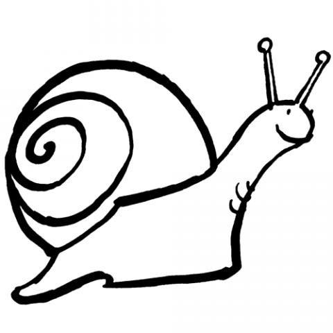 Dibujos infantiles de un caracol en su concha para colorear for Caracol de jardin de que se alimenta