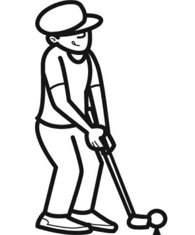 Dibujo de golf para imprimir y colorear. Dibujos de deportes