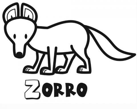 Zorro: Dibujos para colorear