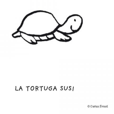 Tortuga Susi: Dibujos para colorear
