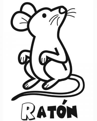 Imágenes infantiles. Dibujo de ratón para colorear