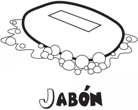para colorear de jabn Dibujos de objetos de bao