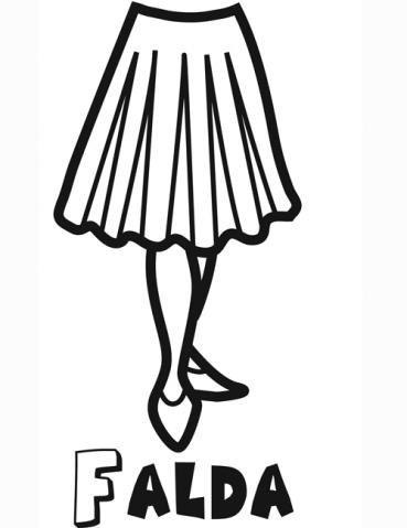 Dibujo de una falda para colorear. Dibujos de ropa para niños