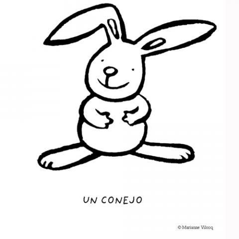 de conejo para colorear con los nios