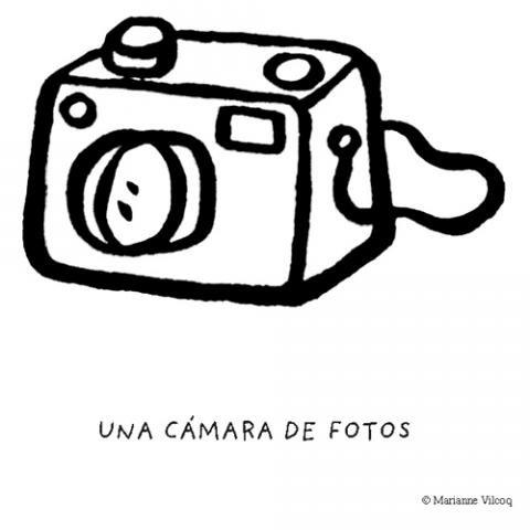 Dibujos de cámara de fotos para imprimir y colorear con los niños