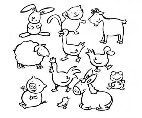 Contemporáneo Niños Para Colorear Páginas Para Colorear Animales ...