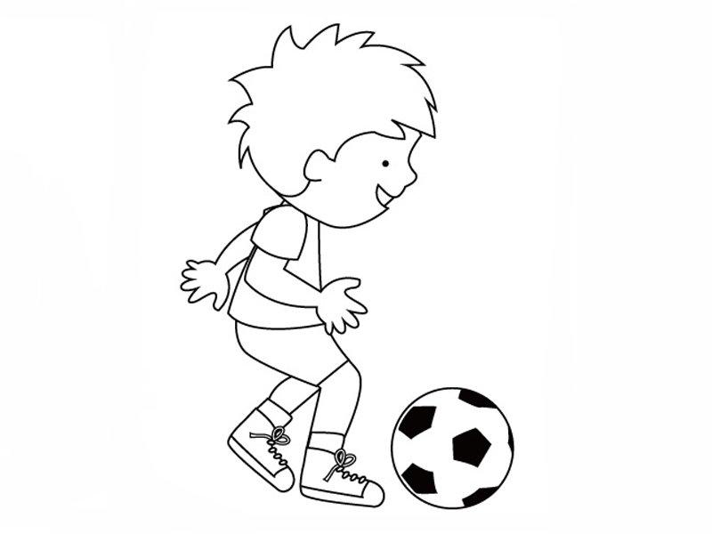 Niño Dando Toques Al Balón Dibujos Para Colorear