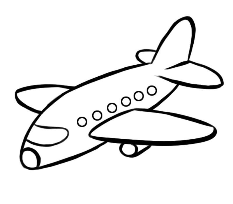 Avión de pasajeros: Dibujos para colorear