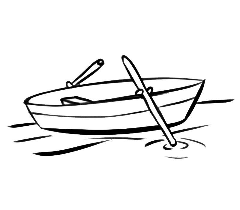 Barca con remos
