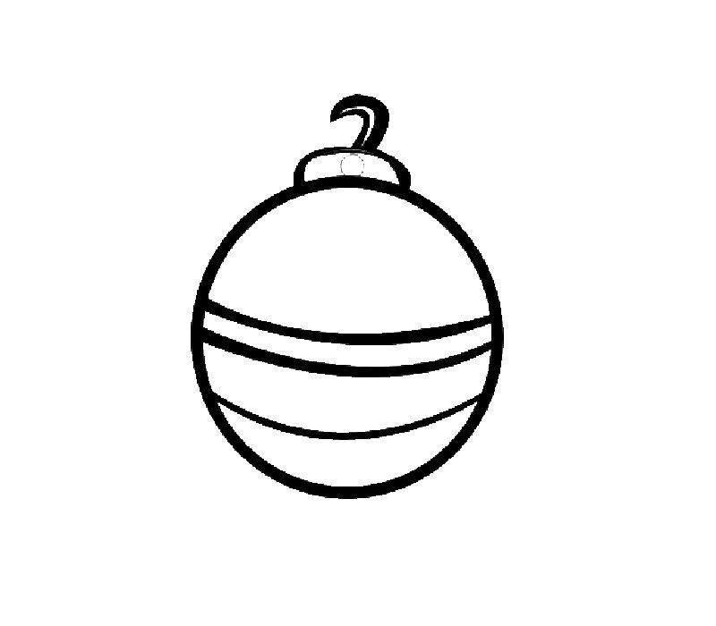 Dibujo de la bola de Navidad para imprimir y colorear