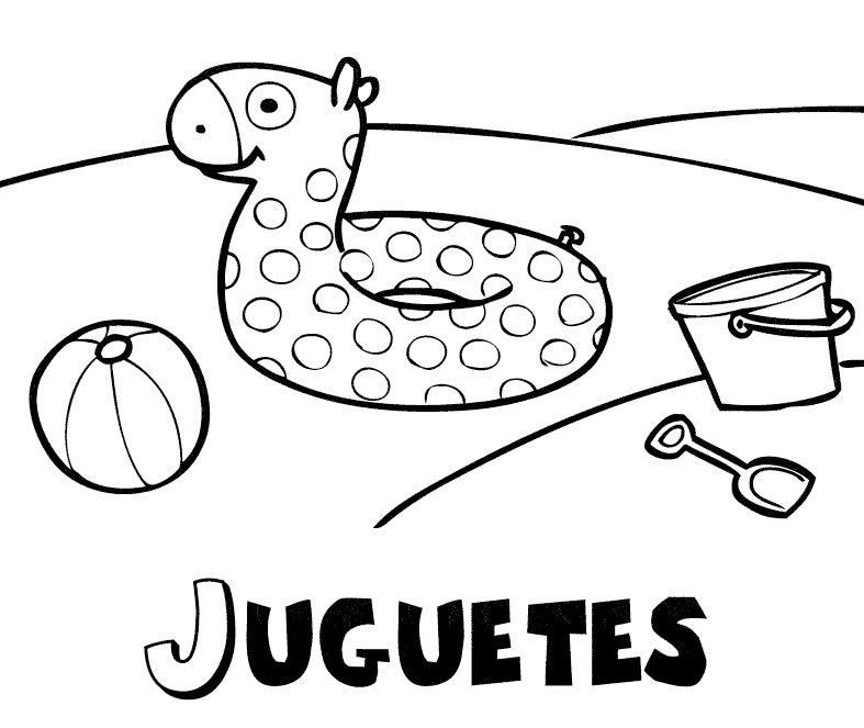 Jueguetes de verano: Dibujos para colorear