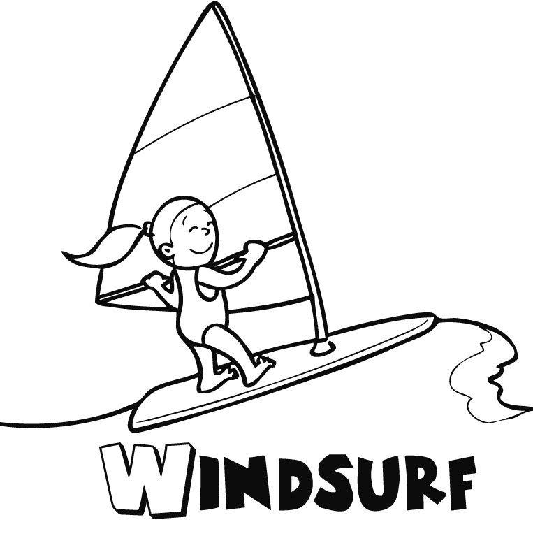 Windsurf En Verano: Dibujos Para Colorear