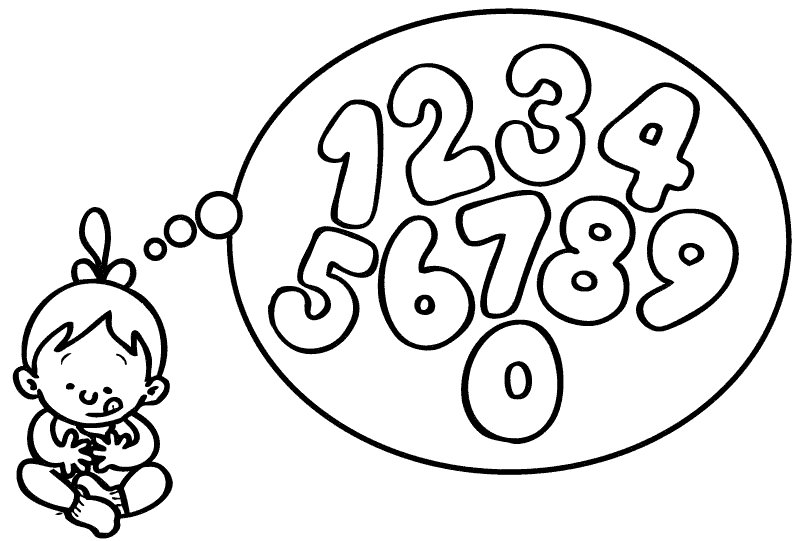 Dibujos de los números para imprimir y colorear con los niños