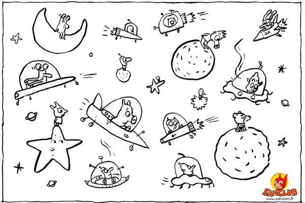 El espacio de SamSam: Dibujos para colorear