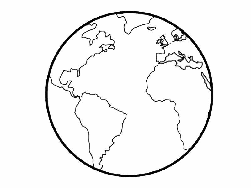 de bola del mundo para colorear con los niños