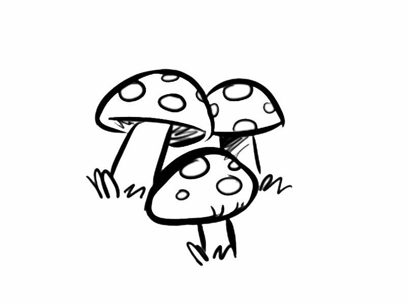 Setas con lunares dibujos para colorear - Pintar bano con hongos ...
