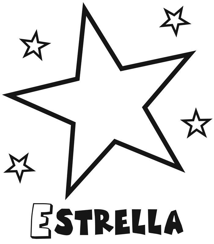 dibujo infantil de estrella con estrellitas dibujos para