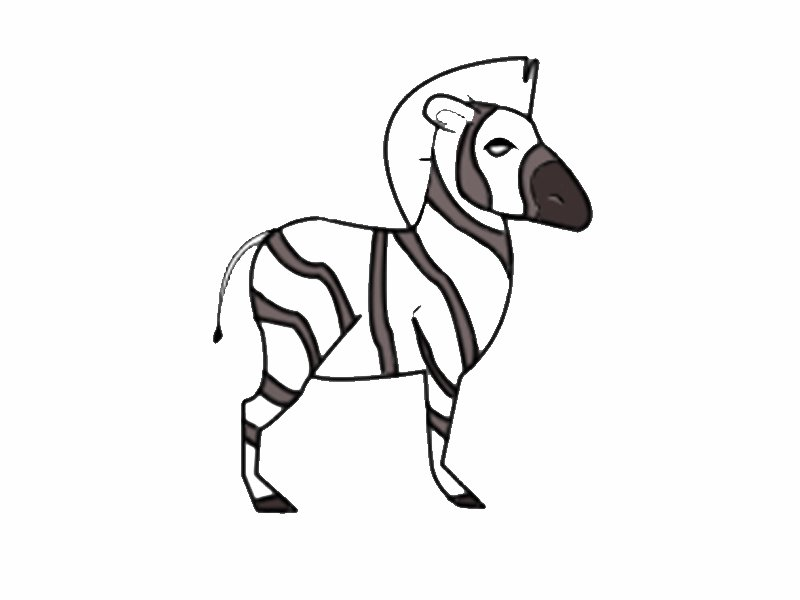 Cebra de perfil: Dibujos para colorear