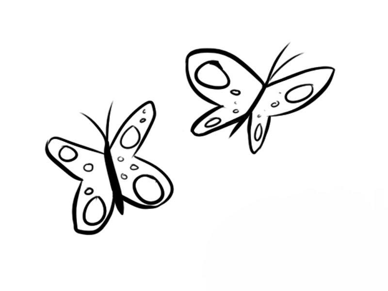 Mariposas volando: Dibujos para colorear