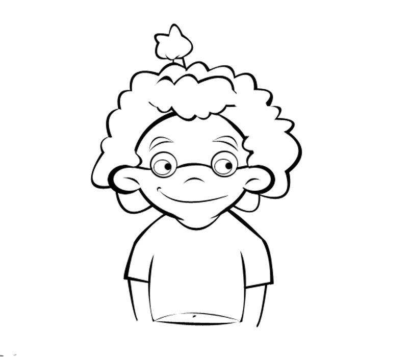 Niña con gafas: Dibujos para colorear