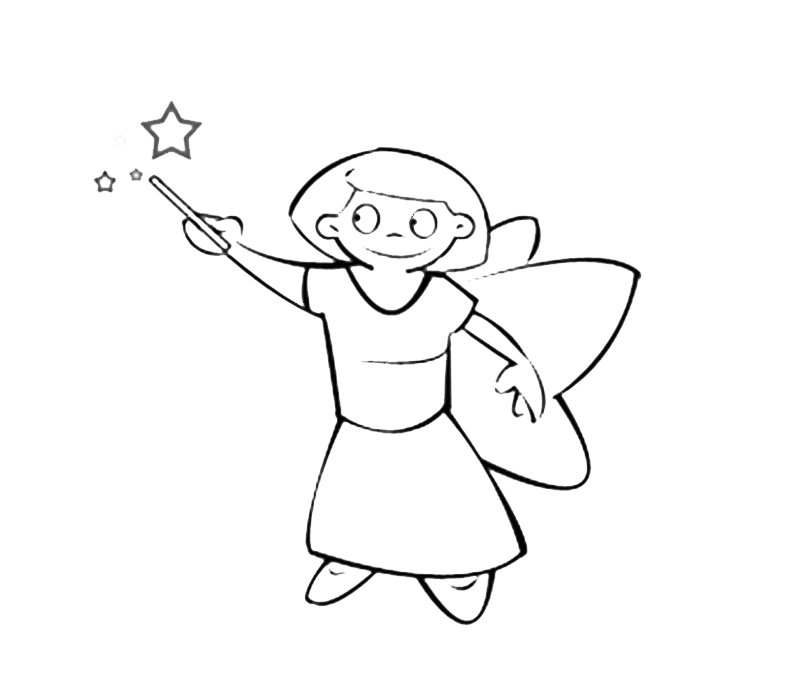 Hada con varita mágica