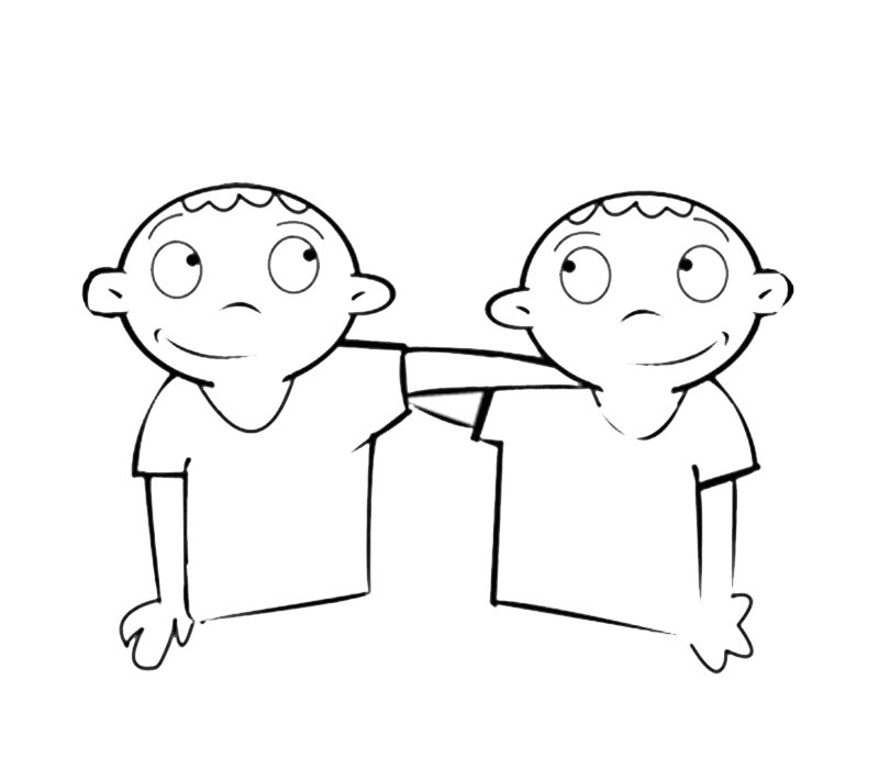 Amigos: Dibujos para colorear