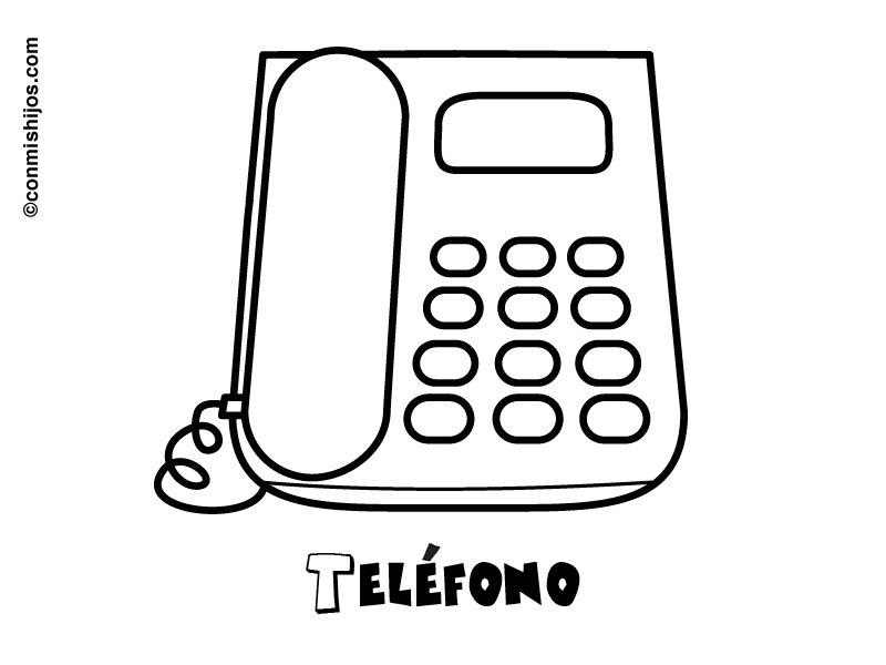 Teléfono Dibujos Para Colorear