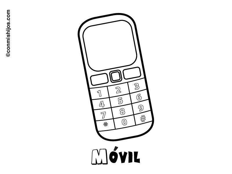 Telefono móvil. Dibujos para colorear