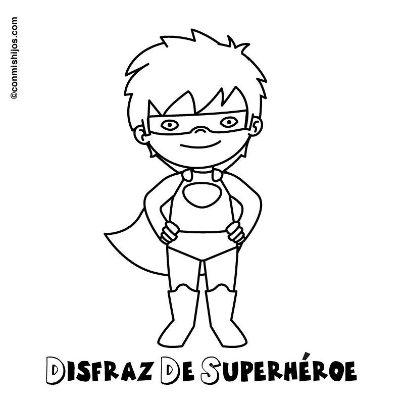 Imagen Gratis Para Pintar De Disfraz De Superhéroe