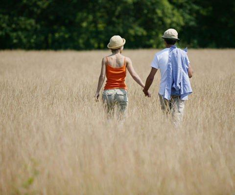Postales virtuales gratuitas: Una pareja en el campo