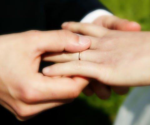Tarjeta virtual de aniversario o de boda: Matrimonio