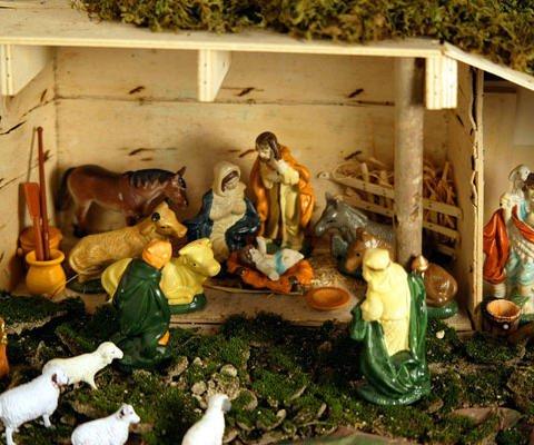 Postal virtual del Portal de Belén virtual para felicitar la Navidad