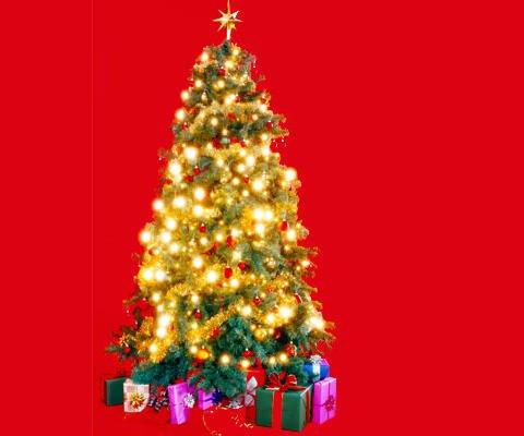 Árbol de Navidad, postal virtual para felicitar las fiestas
