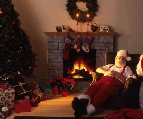 Tarjeta virtual navideña de Papá Noel