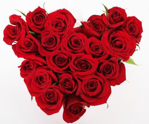 Corazón de rosas, una postal virtual para regalar a mamá