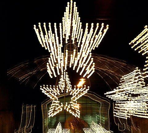 Tarjeta virtual con estrellas de Navidad