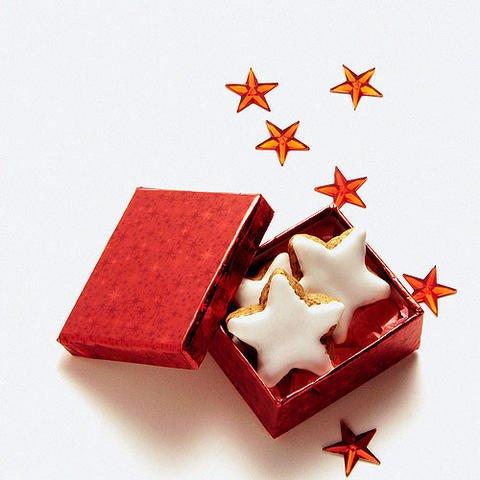 Tarjetas virtuales de Navidad: Dulces de estrellas