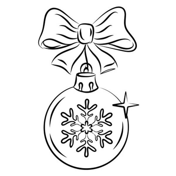 Dibujos Para Tarjetas De Navidad Para Ninos.Dibujo De Bola Navidena Para Ninos
