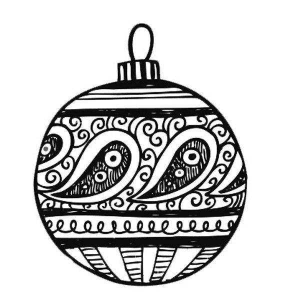 Bolas De Navidad Dibujos Para Colorear.Dibujo De Bola De Navidad Dibujos Para Colorear