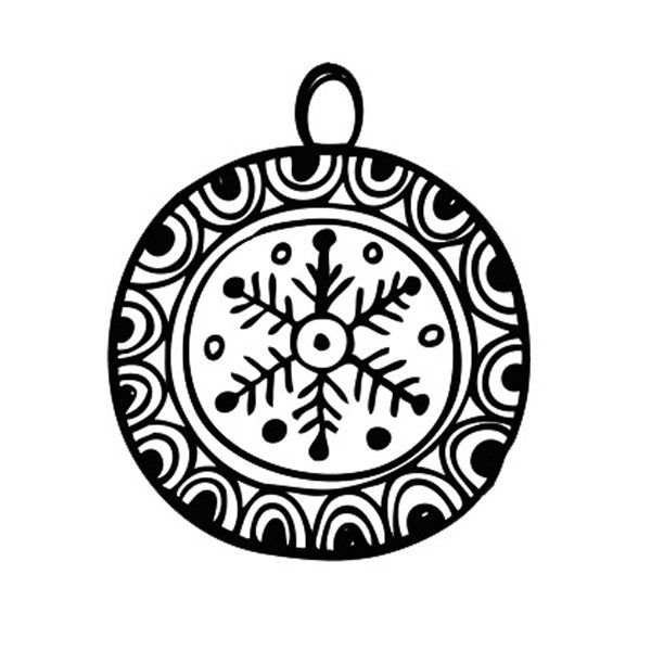 Dibujos Para Colorear De Bolas De Navidad
