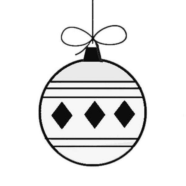 Dibujos de navidad bola navide a - Dibujos navidenos para ninos ...