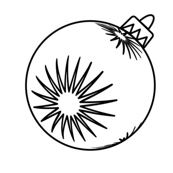 Dibujos de Navidad. Bola navideña