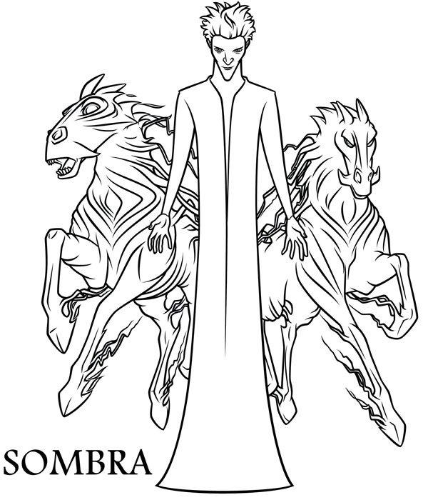 Dibujo para colorear de Sombra. El origen de los guardianes