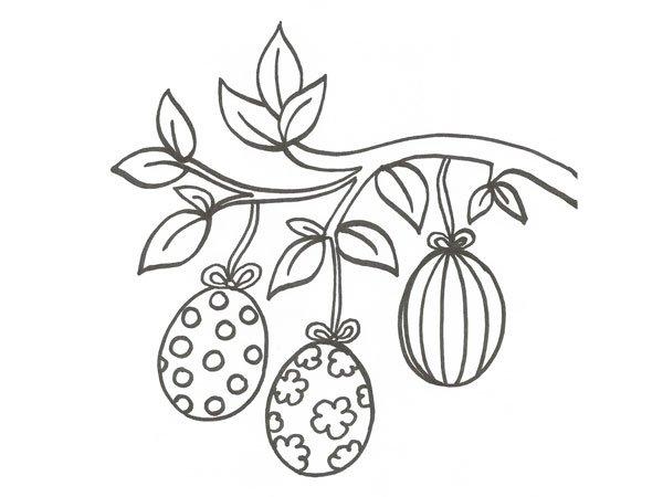 Dibujo de huevos de Pascua para colorear con niños